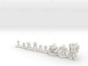 Infantry compare in White Natural Versatile Plastic