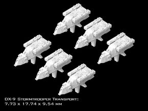 (Armada) 6x DX-9 Stormtrooper Transport in Frosted Ultra Detail