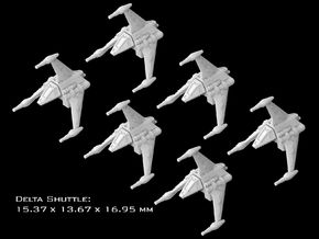 (Armada) 6x Delta Shuttle in Smooth Fine Detail Plastic