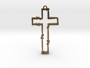 persecuted cross in Natural Bronze