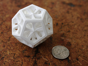 Dodecahedron in White Strong & Flexible Polished: Medium