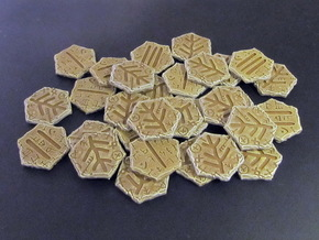 Elder Sign tokens in White Strong & Flexible: Small