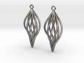 Leaf Earrings in Polished Silver