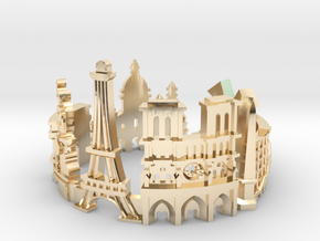 Paris Skyline - Cityscape Ring in 14K Yellow Gold: 9 / 59