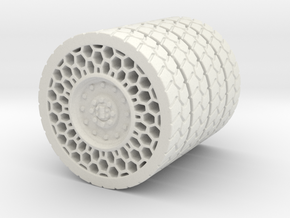 Airless Tire1 46mm in White Strong & Flexible