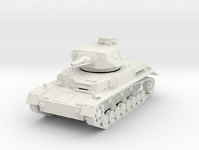 PV150A Pzkw IVD Medium Tank (28mm) in White Natural Versatile Plastic