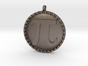 Pi(e) in Polished Bronzed Silver Steel