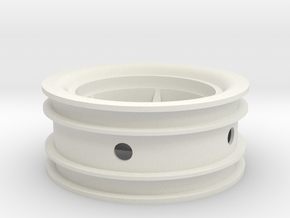 Ampro 12mm Wheel in White Strong & Flexible