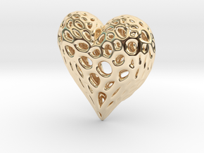 Organic Heart Necklace in 14K Yellow Gold