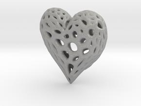Organic Heart Necklace in Aluminum