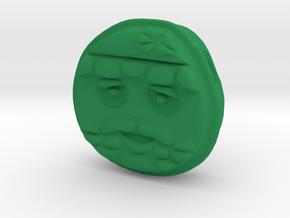 Santa EMOJI Face Pendant in Green Processed Versatile Plastic