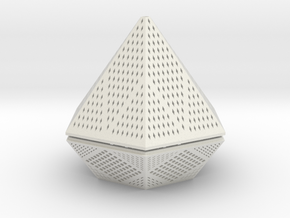 Diamond lampshade in White Natural Versatile Plastic