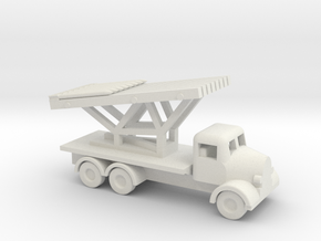 1/144 Scale Austin K6 Rocket Launcher in White Natural Versatile Plastic