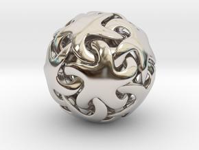 Starfish ball in Rhodium Plated Brass