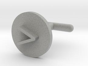 Cufflink - Greater Than Symbol in Metallic Plastic