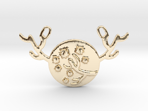 Horned Moon Autumn by ~M. in 14k Gold Plated Brass