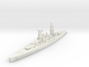 Conte di Cavour battleship 1/1800 in White Strong & Flexible