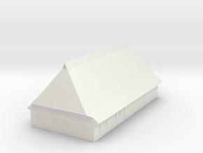 1/300 North German Timberframe Farm House - white in White Natural Versatile Plastic