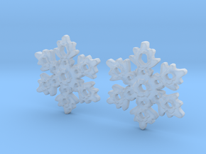 Snowflake Earring Dangles (pair) in Smooth Fine Detail Plastic