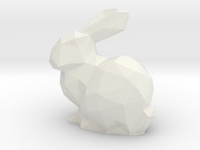 Bunny LowPoly LED Tea Light Holder in White Natural Versatile Plastic