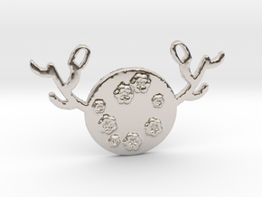 Horned Moon Spring by ~M. in Rhodium Plated Brass