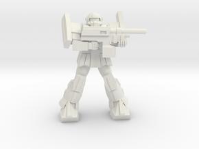 'Pug' A1A - Pugnator pose 2 in White Strong & Flexible