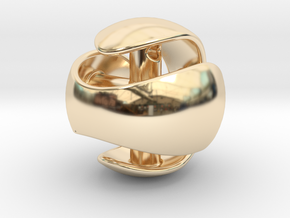 Sphere Pendant (large) in 14K Yellow Gold