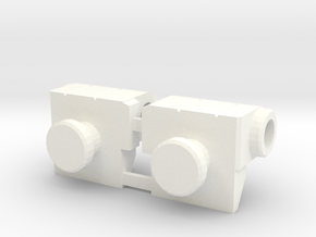 TR: Sixshot Wrist Replace in White Processed Versatile Plastic