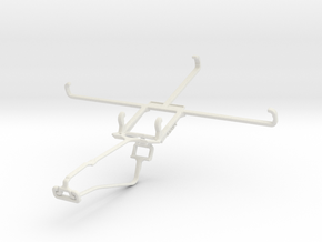 Controller mount for Xbox One Chat & Maxwest Nitro in White Natural Versatile Plastic