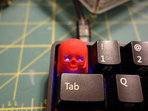 Cherry MX Skull Keycap in Red Processed Versatile Plastic