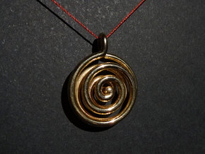 Double Spiral in Polished Silver