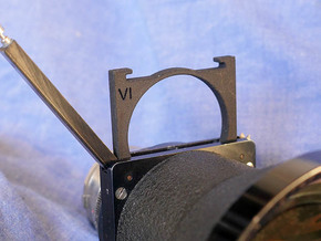 series VI [6] filter holder for Kinoptik Tega lens in Black Strong & Flexible