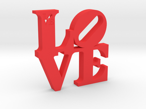 LOVE Sculpture  in Red Strong & Flexible Polished