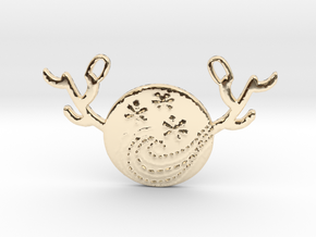 Horned Moon Winter by ~M. in 14k Gold Plated Brass