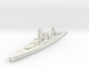 Andrea Doria battleship 1/1800 in White Strong & Flexible