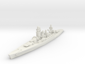 Andrea Doria battleship 1/1800 in White Natural Versatile Plastic