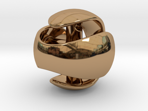 Sphere Pendant (large) in Polished Brass
