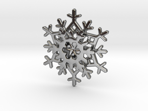 Layered Snowflake Pendant in Fine Detail Polished Silver