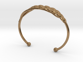 Wheat Bracelet all sizes in Natural Brass: Extra Small