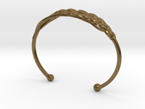 Wheat Bracelet all sizes in Natural Bronze: Extra Small
