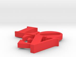 Love Sculpture Impossible in Red Processed Versatile Plastic