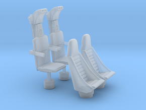 YT1300 5 FOOTER COCKPIT SEATS in Smooth Fine Detail Plastic
