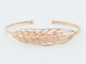 Wheat Bracelet all sizes in 14k Rose Gold Plated: Medium