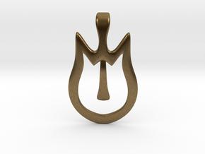 Cat Pin in Natural Bronze
