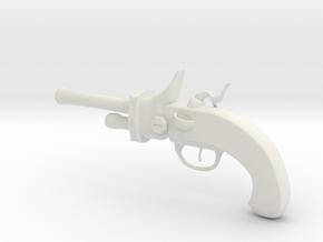 """Flintlock Pistol 4.5"""" in White Strong & Flexible"""