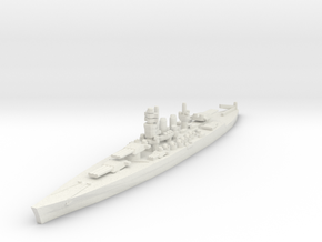 Littorio class battleship 1/2400 in White Natural Versatile Plastic