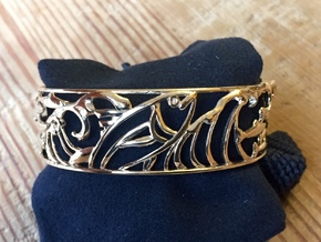 sardine cuff size small 16cm in Polished Bronze