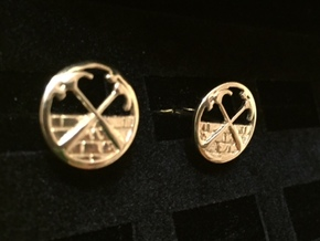 The Wall Cuff Links in Polished Bronze