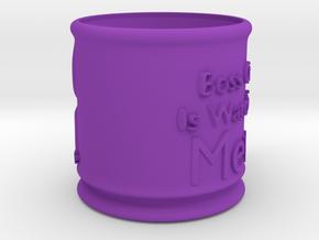 Boss Cat Mug in Purple Strong & Flexible Polished