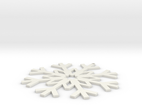 Christmas Ornament 1-1 in White Strong & Flexible